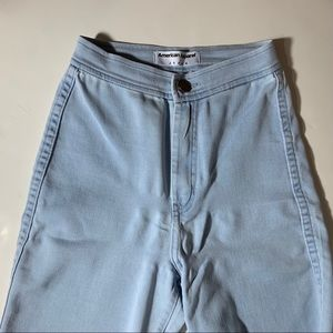 American Apparel Light Washed Easy Jeans